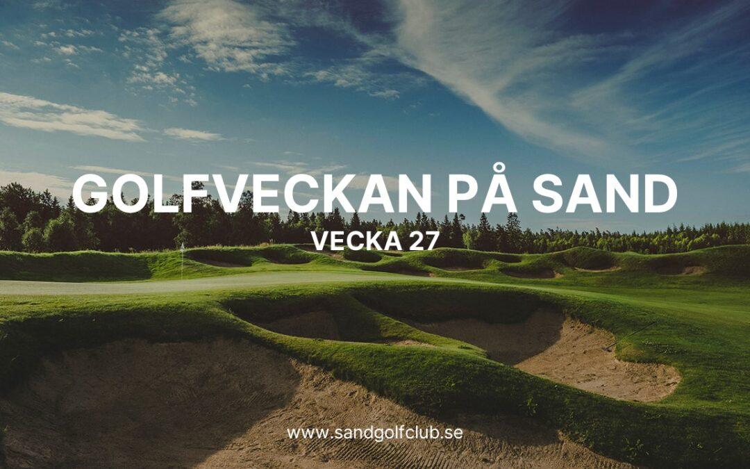 GOLFVECKAN PÅ SAND!