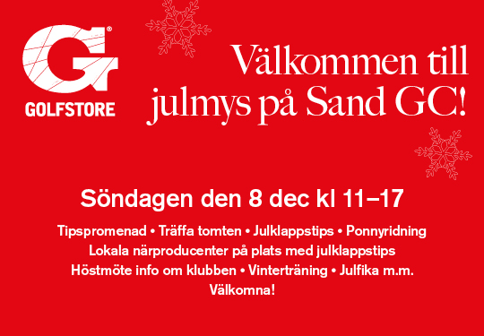 Julmys på Sand GC